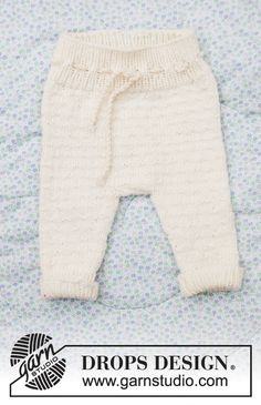 a Winter Baby Pants pattern by DROPS design – Baby Baby Knitting Patterns, Baby Cardigan Knitting Pattern Free, Baby Hat Patterns, Knitting For Kids, Free Knitting, Drops Design, Knit Baby Pants, Knit Baby Sweaters, Designer Baby