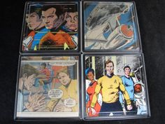 Star Trek Repurposed Vintage Comic Coaster Set by EpicButtons, $25.00