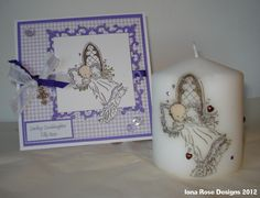 Christening Card and Candle