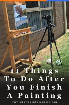 11 Things To Do After You Finish A Painting Oil Painting For Beginners Photographing Your Painting Varnishing Your Painting Preparing The Canvas Oil Painting Tips, Oil Painting For Beginners, Acrylic Painting Lessons, Acrylic Painting Techniques, Art Techniques, Painting Videos, Pictures For Painting, Oil Painting Tutorials, Art Tutorials