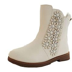Girl's Shoes Snow boots Flat Heel Boots Ankle Boots with Flowers Shoes More Colors Available – CAD $ 33.87