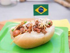Brazilian Hot Dog (Cachorro Quente) Recipe : Jeff Mauro : Food Network