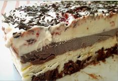 Greek Sweets, Appetisers, Dessert Recipes, Desserts, Popsicles, Nutella, Tiramisu, Food And Drink, Ice Cream