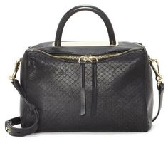 Vince Camuto Ensie – Snake-textured Small Satchel