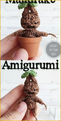 How cute is this Harry Potter inspired mini mandrake crochet pattern? An adorable little amigurumi toy for a Harry Potter fan! How cute is this Harry Potter inspired mini mandrake crochet pattern? An adorable little amigurumi toy for a Harry Potter fan! Amigurumi Toys, Crochet Patterns Amigurumi, Crochet Dolls, Knitting Patterns, Crochet Animal Patterns, Knitting Tutorials, Cute Crochet, Crochet Crafts, Yarn Crafts