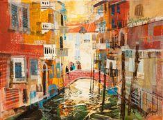 Mike  Bernard: CANAL REFLECTIONS, VENICE 12X16