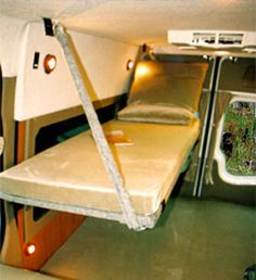 Sprinter DYO 7 Bunks and Platform Beds - Sportsmobile Custom Camper Vans Custom Camper Vans, Diy Camper, Custom Vans, Camper Ideas, Gypsy Living, Van Living, Custom Van Interior, Van Bed, Van Dwelling