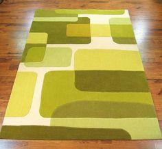Pop Art 135/63 Green Rugs | Modern Rugs