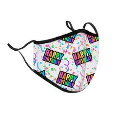 Happy Birthday Mask Face Mask Price, Face Mask Set, Football Facemask, Rainbow Face, Airbrush Designs, Face Masks For Kids, Heart Face, Cute School Supplies, Leopard Fashion