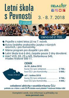 Kurzy českého znakového jazyka pro všechny úrovně pokročilosti!   Letní škola s Pevností 2018.  Velmi doporučujeme :-)