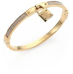 Michael Kors Pavé Padlock Bangle Bracelet on shopstyle.co.uk