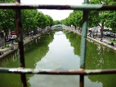 Canal St. Martin in 10th Arrondisement in Paris France, Paris, Montmartre Paris, Paris France, French