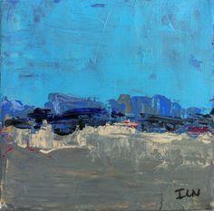 Diptyque abstrait : Suite en bleu  20x20 cms par ISANATIVELLE