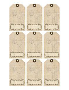Digital collage sheet printable gift tags vintage printable similar ideas negle Images