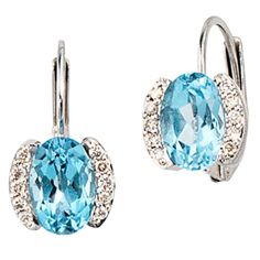 Damen-Bouton 2 Blautopase 14 Karat (585) Weißgold 2 Topas 20 Diamant 0.08 ct. Dreambase http://www.amazon.de/dp/B0097R5M5A/?m=A37R2BYHN7XPNV
