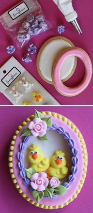 How to make panorama Easter egg cookies (Julia M. Usher). So beautifully done! Repinned By:#TheCookieCutterCompany