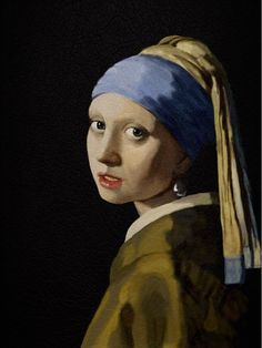 Facsimile THE GIRL WITH A PEARL EARRING with ipad.