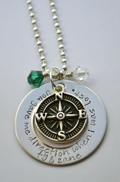 Compass Necklace  Personalized Compass by LauriginalDesigns, $28.00