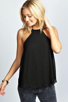 Aliza Open Back Halter Neck Top - Tops - Vêtements Femme