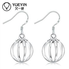 Hollow Out Lantern Drop Earrings Silver Plated Special Hollow out Lantern Shaped Drop Earrings for Women Girl Gift Party Fashion Jewelry Online with $0.94/Pair on Worldfashionoutlet's Store | DHgate.com