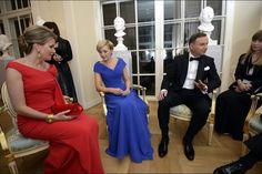 King Philippe and Queen Mathilde of Belgium attended the reception dinner held in honour of the President and the First Lady on October 14, 2015 at The Old Orangery in Royal Baths Garden in Warsaw, Poland.