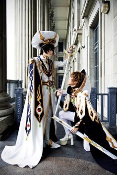 Lelouch & Suzaku (by Kanasaiii)-I want these outfits!Especially sUZA'S!