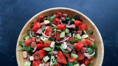 We've got snacks, soups, salads, desserts, drinks and even a PIZZA that put this juicy fruit to good use. Antipasto Salad, Caprese Salad, Rachel Ray Recipes, Juicy Fruit, Watermelon Recipes, Fresh Mozzarella, Vegetable Sides, Summer Salads, Soup And Salad