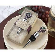 Tapón de vino con uvas