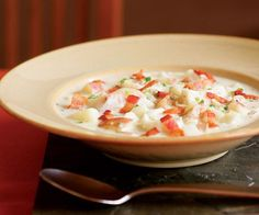 Creamy Seafood Chowder with Bacon, Thyme & Jalapeño - one of many yummy fall favorite soups in this photo/recipe slideshow!