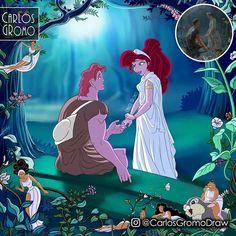 Grant Wood, Disney Fan Art, Disney Princess Art, Megara Disney, Megara Hercules, Mermaid Disney, Disney E Dreamworks, Disney Movies, Disney Stuff