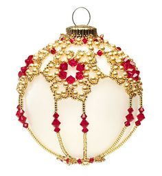 ~ Snowflake Beaded Ornament ~