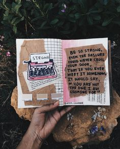 "'be so strong, even the failure could never cross your door, that if you ever meet it somehow, it would say, ""you're not the one i am looking for' // art journal + poetry by Noor Unnahar https://www.instagram.com/noor_unnahar/  // journaling, illustration, crafts, scrapbooking, diy, notebook, tumblr aesthetics, photography, instagram ideas inspiration, words, passion, quotes, illustration, lifestyle creative artists writers, poems //"
