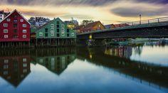 Trondheim,Gamlebybro, City Old bridge by Aziz Nasuti on 500px