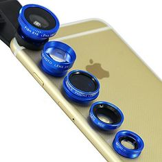 Now have more fun taking pictures with your smart phone with the help of 5 camera lenses that quickly attach to your Smartphone with the included adjustable clip.
