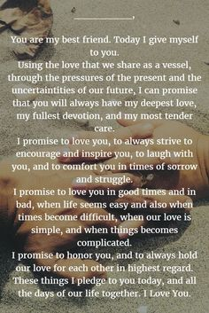 Wedding Quotes : Wedding Vows 22 Examples About How to Write Personalized Wedding Vows quotes marriage Wedding Quotes : Wedding Vows Best Wedding Vows, Wedding Vows To Husband, Wedding Quotes, Budget Wedding, Wedding Planner, Our Wedding, Wedding Ideas, Dream Wedding, Wedding Vows That Make You Cry