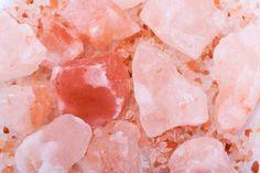 himalayan pink rock salt background
