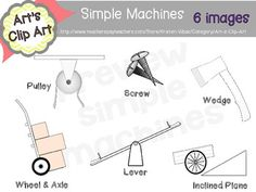 Simple Machines Book Labels from Ms Lyric on TeachersNotebook.com ...