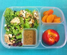 Salad with Baked Chicken, Red Plum, Dried Apricots