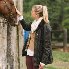 Barbour jackets and horses