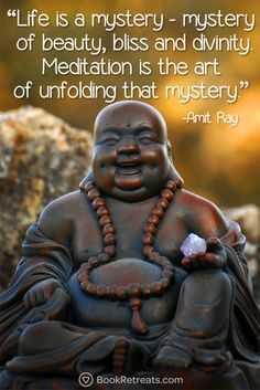 """Life is a mystery - mystery of beauty, bliss and divinity. Meditation is the art of unfolding that mystery."" Are you needing some life motivation? Get Life-changing meditation quotes by Amit Ray and other teachers here: https://bookretreats.com/blog/101-quotes-will-change-way-look-meditation"