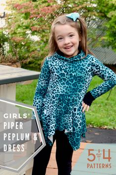 PDF sewing pattern for Girls' Piper Peplum and Dress. Pattern includes handkerchief and circle peplum and skirt options as well as multiple necklines. Sewing Patterns For Kids, Clothing Patterns, Peplum Dress, Dress Up, Your Girl, Gain, Print Patterns, Girl Outfits, Knitting