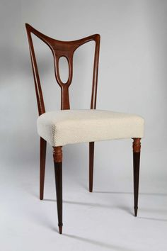 Set Of 6 Rosewood Dining Chairs Attributed to Guglielmo Ulrich