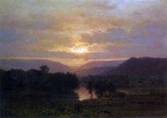George Inness - Sunset