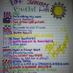 My summer bucket list(: