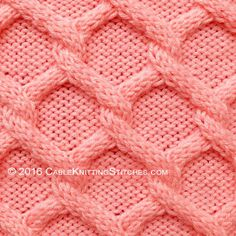 Cable Knitting Puntadas »Diamantes punto trenzado