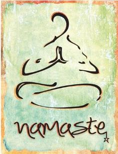 Amazon.com - Namaste Metal Sign, Health and Well-being, Yoga ...