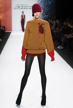 love love love this bleeding heart sweater from Season 11 PR winner, Michelle.