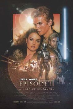 Amazon.com  Star Wars  Episode II - Attack Of The Clones - Movie Poster   Regular (Size  27   x 40  )  Prints  Posters   Prints 3aa8ce8c43b4