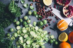 Shaved Brussels Sprout Winter Salad (can sub other sweetener for the honey)