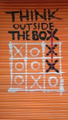 Graffiti X's n' O's Graffiti X's. Informations About Graffiti X's n' O's # Graffiti Art, Graffiti Quotes, Arte Banksy, Banksy Art, Banksy Images, Street Art Banksy, Street Art Quotes, Thinking Outside The Box, Street Signs
